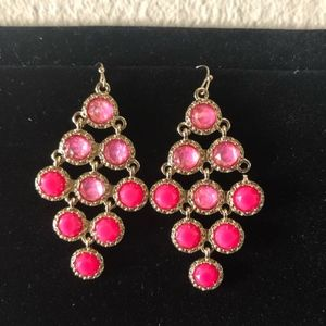 Jewelry - 3 for $15 NEW gorgeous hot pink gold earrings
